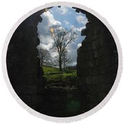 Fountains Abbey Round Beach Towel