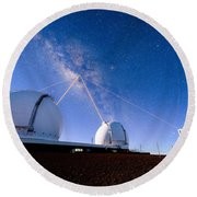 Four Lasers Attacking The Galactic Center Round Beach Towel