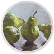 Four Pears Round Beach Towel