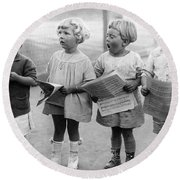 Four Young Children Singing Round Beach Towel