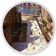 Fourth Floor Slab Round Beach Towel