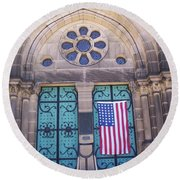 Fourth Of July  Round Beach Towel