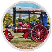 Fowler Road Roller Round Beach Towel