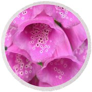 Fox Glove Round Beach Towel