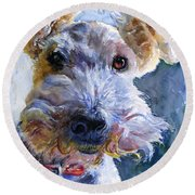 Fox Terrier Full Round Beach Towel