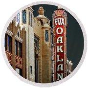 Fox Theater . Oakland California Round Beach Towel
