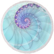 Fractal 17 Round Beach Towel by Lena Auxier