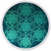 Round Beach Towel featuring the drawing Fractal Interference by Jason Padgett