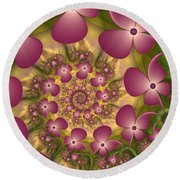 Fractal Joy Round Beach Towel