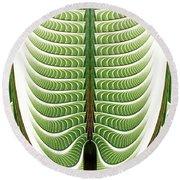Round Beach Towel featuring the digital art Fractal Pine by Anastasiya Malakhova