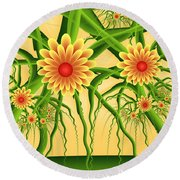 Fractal Summer Pleasures Round Beach Towel