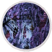 Fractal121413 Round Beach Towel