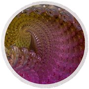 Fractalized Cube Round Beach Towel