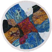 Fracture Section X Round Beach Towel