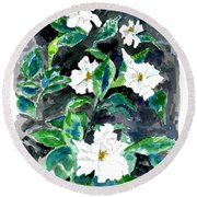 Fragrant Beauty  Round Beach Towel