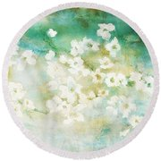 Fragrant Waters - Abstract Art Round Beach Towel