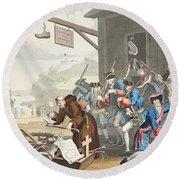 France, Illustration From Hogarth Round Beach Towel