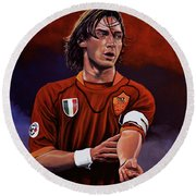 Francesco Totti Round Beach Towel