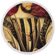 Francois I Round Beach Towel by Jean Clouet