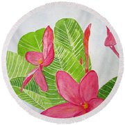 Frangipani Tree Round Beach Towel