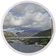 Franjo Tudman Bridge Round Beach Towel