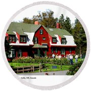 Franklin D. Roosevelt Cottage Campobello Nb Round Beach Towel