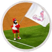 Fredbird Celebrates A Win Round Beach Towel