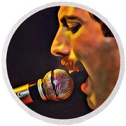 Freddie Mercury Series 2 Round Beach Towel