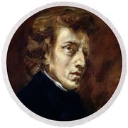 Frederic Chopin  Round Beach Towel