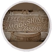 Free Moonshine Round Beach Towel