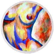 Free Soul Round Beach Towel by Helena Wierzbicki