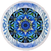 Freedom And Love Round Beach Towel