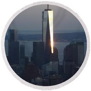Freedom Tower Round Beach Towel