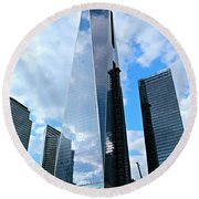 Freedom Tower Round Beach Towel by Stephen Stookey