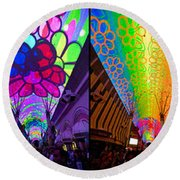 Fremont Street Experience Round Beach Towel