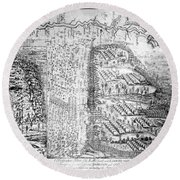 French And Indian War, Battle Of Lake Round Beach Towel