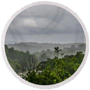 French Broad River Round Beach Towel