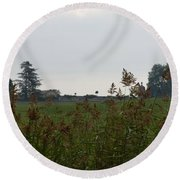 French Chateau Round Beach Towel
