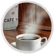 French Coffee Round Beach Towel