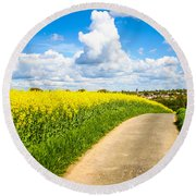 French Countryside Round Beach Towel