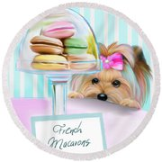 French Macarons Round Beach Towel