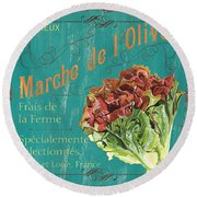 French Market Sign 3 Round Beach Towel