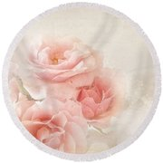 French Papers L Round Beach Towel