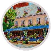 French Restaurant Jardin Nelson Paris Style Bistro Place Jacques Cartier Terrace Garden C Spandau   Round Beach Towel