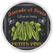 French Vegetables 2 Round Beach Towel