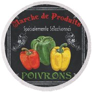 French Vegetables 3 Round Beach Towel