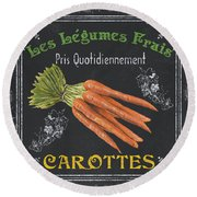 French Vegetables 4 Round Beach Towel by Debbie DeWitt