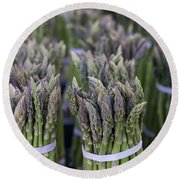 Fresh Asparagus Round Beach Towel