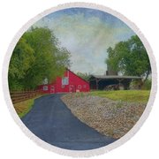 Round Beach Towel featuring the photograph Fresh Country Charm by Liane Wright