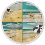 Fresh From The Sea Round Beach Towel